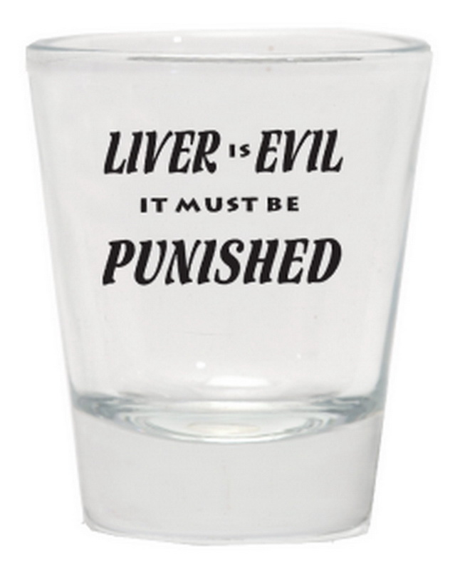 LIVER IS EVIL SHOT GLASS 12PC * UOM: * Minimum Order: